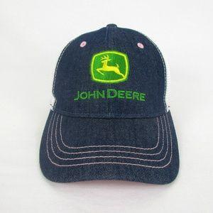 Women's Pink & Denim John Deere Baseball Cap